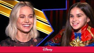 Download Little Girl Interviews Brie Larson About Captain Marvel | Disney Video