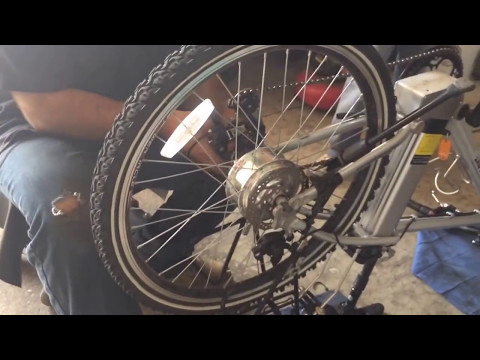 How to change a flat tire or tube on an electric bike with hub motor