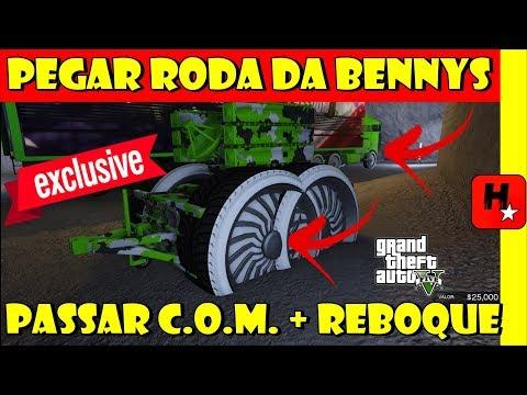 GTA 5: MODIFICAÇÕES GRÁTIS GLITCH C.O.M. + REBOQUE ANTI AÉREO RODA BENNYS | GIVE CAR TO FRIEND