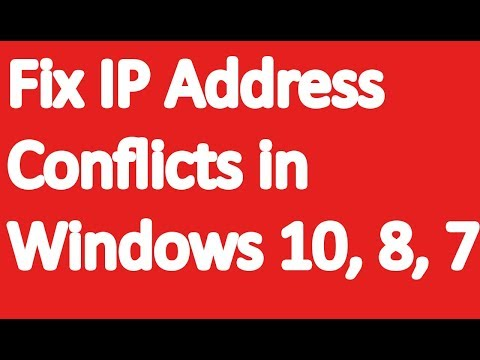 Fix IP Address Conflicts in Windows 10, 8, 8.1 and 7