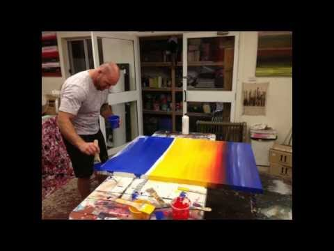 Learn how to Paint Acrylic Abstract Art Lessons Online or Sydney Art Studio
