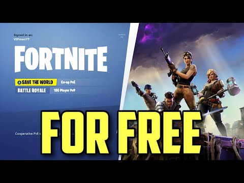 How To Get Fortnite Save The World For Free!!!