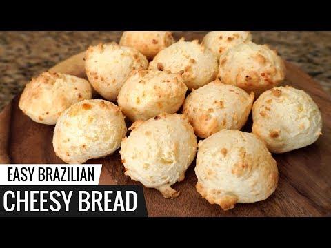 Brazilian CHEESY BREAD Recipe - aka Pão De Queijo - Easy Cheese Bread