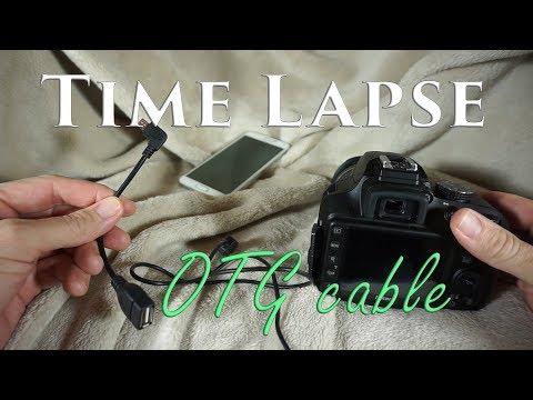 Time Lapse Photography using OTG Cable (Nikon, Canon, etc.)
