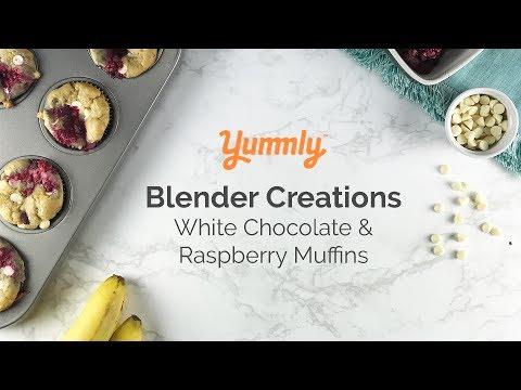 White chocolate & raspberry blender muffins