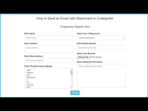 Codeigniter Send Email with Attachment