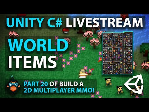 C# with Unity Live Programming #27 - Multiplayer 3D Top Down Adventure MMORPG Part 19