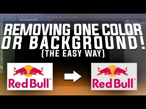 Photoshop Tutorial: Removing One Color/Background! The Easy Way! (Beginner)