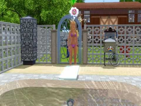 Sims Doing Big Dive! (Sims 3 Seasons)