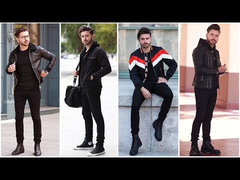 4 EASY OUTFITS FOR MEN (All Black) | Men's Outfit Inspiration Lookbook 2018 | ALEX COSTA