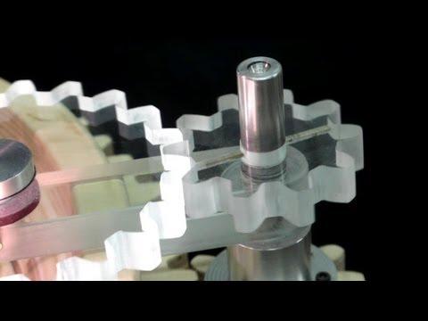 Plexiglass Gears On The Scroll Saw