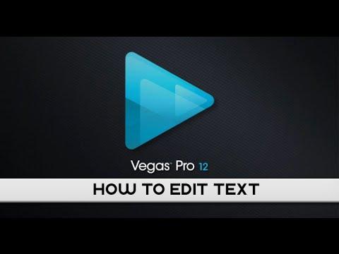 Sony Vegas Basics: How to edit text