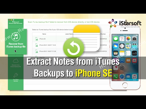 How to Extract Notes from iTunes Backups to iPhone SE