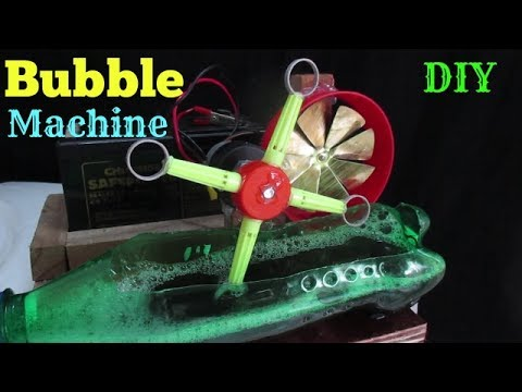 Bubble Machine - How to make a Bubble Machine at home easy - (For Kids)