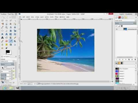 How to Save JPG in GIMP