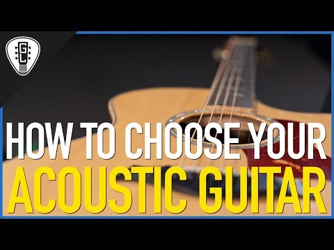 How To Choose Your Acoustic Guitar - Free Guitar Lesson