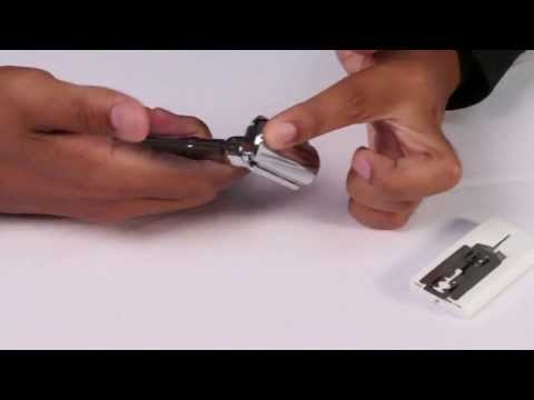 How to change blades for a Merkur Futur Adjustable Razor with Chrome Finish