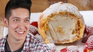 deep fried ice cream behind tasty
