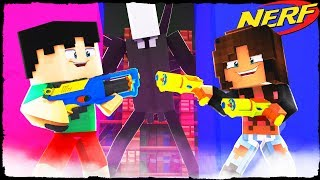 Minecraft - NERF WARS - Scary NERF Gun Battle VS GHOST!