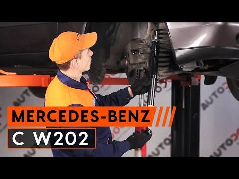 How to replace front shock absorbers MERCEDES-BENZ C W202 [TUTORIAL AUTODOC]