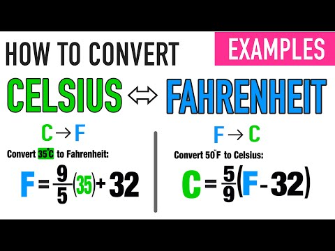 Using Celsius Fahrenheit Formulas