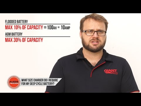 Q&A: What size charger do I need for my deep cycle battery?