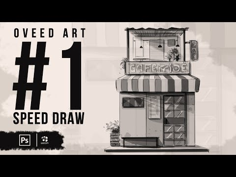 Speed Drawing in Photoshop - Basics to storyboard background | Part - 1