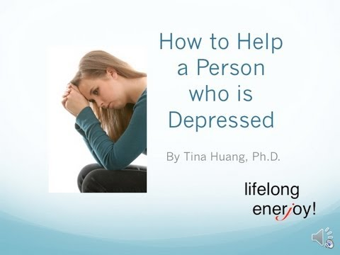How to help a person with depression