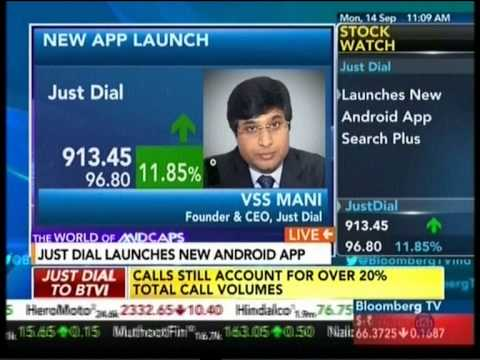 Justdial on Bloomberg TV (The World Of Midcaps) - VSS Mani