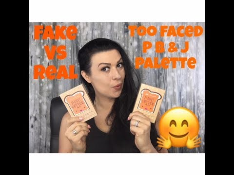 FAKE VS REAL| TOO FACED PEANUT BUTTER AND JELLY PALETTE