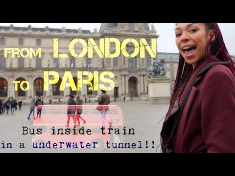 From LONDON to PARIS by BUS.. 10 hours