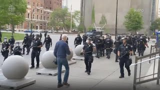 Video at Buffalo protest shows police pushing 75-year-old man