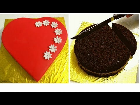 Heart shaped cake. How to make HEART SHAPED CAKE out of round cake.  VALENTINE'S DAY CAKE
