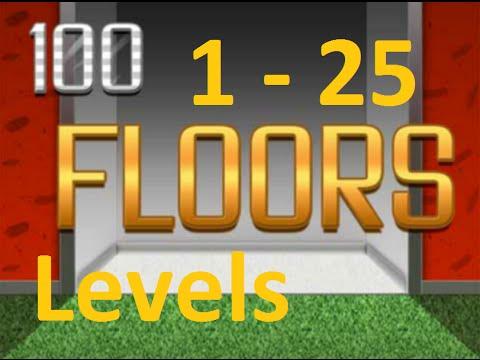 100 Floors ™ - Can You Escape?   Level 1 - 25  (1 - 25 уровень) прохождение