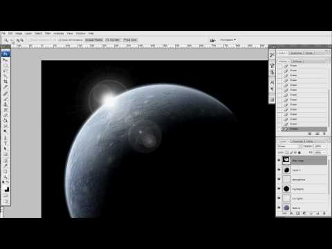 Photoshop CS3 Planet Tutorial