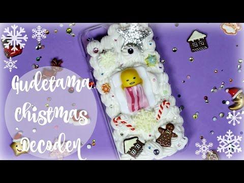 Gudetama Christmas Decoden Phone Case - NerDIY