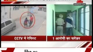 Punjab : CCTV footage of rapist abducting victim girl from office
