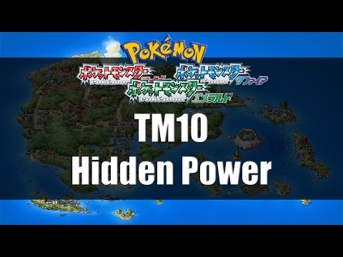 Pokemon Ruby/Sapphire/Emerald - Where to find TM10 Hidden Power