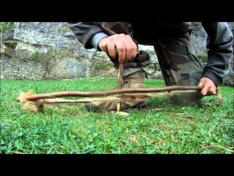 Primitive string for bow drill