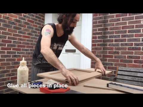 Making MDF shaker style kitchen cabinet doors