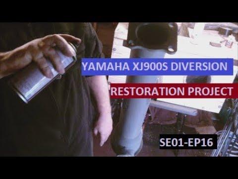 YAMAHA XJ900S DIVERSION. swinging arm total refurb