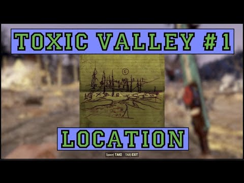 Fallout 76 | Toxic Valley Treasure Map #1 LOCATION!