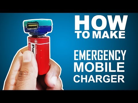 How To Make Best Mini Emergency Mobile charger powerbank - Easy Way