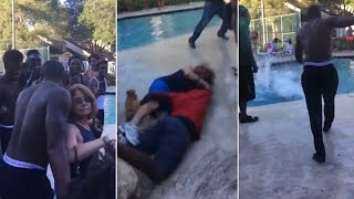 Old Woman Is Body Slammed, Tossed Into Pool By Rowdy Revelers