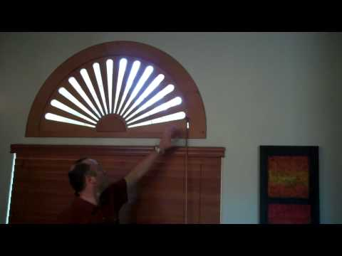 Stained Adjustable Arch Window Covering by Kempler Design