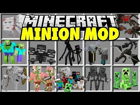 Minecraft MINION MOD | MAKE ANY MINECRAFT MOB FIGHT FOR YOU IN YOUR ARMY!!