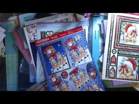 HSN Craft Day Haul- Crafter's Companion  Christmas card kit and fancy paper