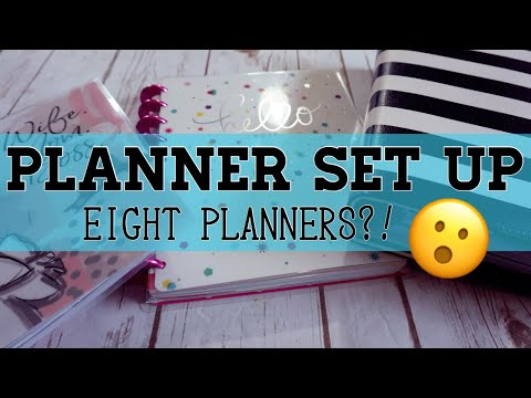 EIGHT MAMBI PLANNERS IN ONE?! | PLANNER SETUP 2017-2018 - UPDATE |