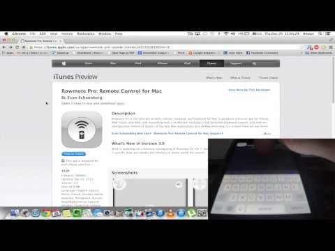 Remote Control Mac Computer with iPhone App - Rowmote