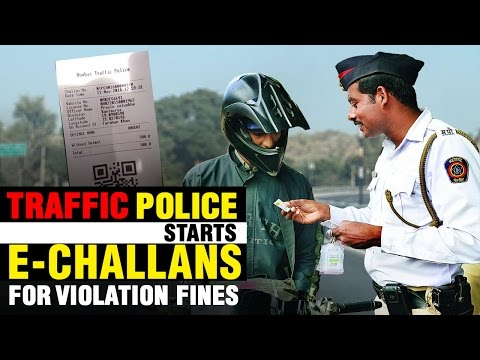 Mumbai Traffic Police Starts E-Challans for violation fines